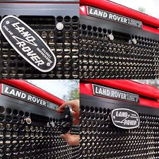 Land Rover Defender: Front Grille w/ latch CUTOUT (solid milled aluminum metal)