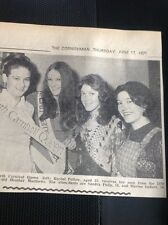H7-1 Ephemera 1971 Picture Erth Carnival Queen Rachel Pellow Heather Matthews