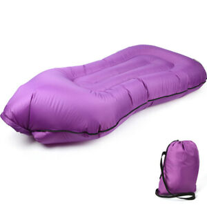 Single-Port Inflatable Lazy Sofa Bed Foldable Outdoor Camping Sleeping Bag