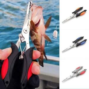 Fishing Pliers Saltwater Freshwater Hook Remover Line Steel Cutter M5V4