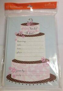 10 Hallmark Engagement Party or Bridal Shower Invitations - CAKE!