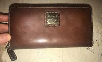 Dooney & Bourke Vintage Saffiano Leather Zip Around Accordion Wallet