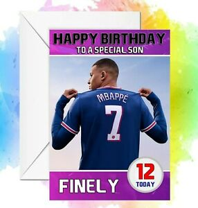 Personalised Fifa 22 Birthday card  any name/relation/age