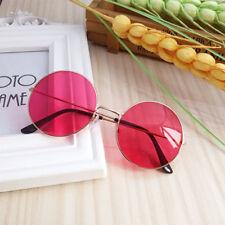 Moda Mujer Retro Redondo de Plástico Gafas Gafas Sol Lente Gafas Marco Gafas