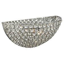 Searchlight 6161CC Chantilly Chrome 2 Light Wall Bracket Clear Crystal Buttons