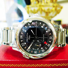 Mens Zenith Elite Port Royal V Ref: 01/02.0451.682 Steel Automatic 38mm Watch