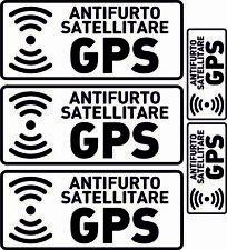 ADESIVI ANTIFURTO SATELLITARE GPS PER CAMION AUTOVEICOLI DURATA 8 ANNI 12X6 CM