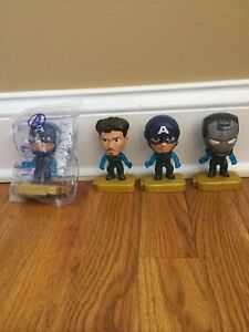 McDonalds Avengers #15 Team Suit Captain America Happy Meal Toy 2019 - Lot Of 4