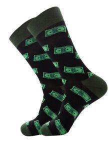 Money Print Socks Dollar Bill Lucky Socks Crew Socks women men