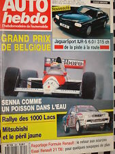 auto-hebdo 1989 JAGUAR XJR-S 6.0L 315 CH / RALLYE 1000 LACS / G.P BELGIQUE