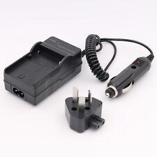 AC+DC Wall+Car Battery Charger For Pentax D-LI50 K10 K10D Konica Minolta NP-400