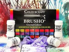 Brusho® 24 x 15g Starter set Non Toxic ***+FREE WAX RESIST STICKS!!!***
