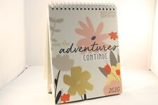 2020 /'3 MONTHS TO VIEW/' TWIN SPIRAL BOUND HANGING PLANNER 24cm x 25.5cm APPRX