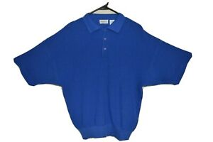 SAKS FIFTH AVENUE KNIT 100% COTTON SHORT SLEEVE COLLARED POLO SHIRT-SIZE L-NWT