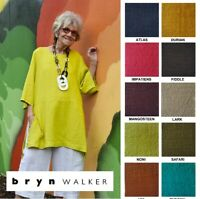 BRYN WALKER Light Linen Long  BRE TUNIC  Artist Apron Top  S M L XL SPRING 2019