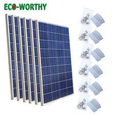 Eco 600W Solar Panel Bundle Kit: 6pcs 100W & Bracket for Off Grid Home System