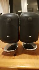 B&W M1 Speaker Gloss Black Pair Bowers Wilkins- slight issue when turned up full
