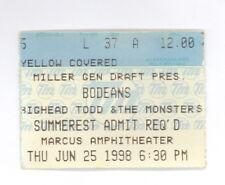 BODEANS 6/25/1998 AUTHENTIC ORIGINAL TICKET STUB MILWAUKEE (508)