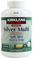 Kirkland Signature Adults 50+ Silver Multi Vitamins & Minerals 430 Tablets