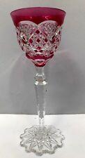 verre VERREPT 22cm cristal doublé rouge VAL SAINT LAMBERT 1905 catalogue