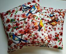 "New Bird Cushion Cover Garden Bird's Bright Colours On A Branch 16"" Pillow Sham"