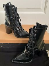 NIB No.21 Numero Ventuno Lucca Lace Up Crystal Pointed Toe Ankle Boots 36 6 $690