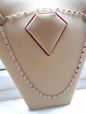 Sterling Silver Multi Coloured Genuine Gem Single Link Chain Necklace (18N2) NEW