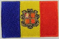 Andorra Aufnäher gestickt,Flagge Fahne,Patch,Aufbügler,6,5cm,neu