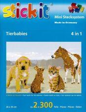 Mini Stecksystem Tierbabys 4 in 1 ca. 2.300 Teile Nr. 41154 mit XXL-Steckvorlage