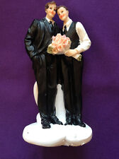December Diamonds Same Sex Gay WEDDING CAKE TOPPER 2 GROOMS #76-76009
