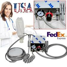 USA Portable Dental Air Turbine Unit work w/ Compressor 4H Syringe Water bottle