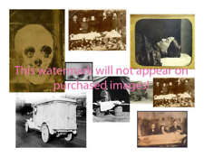 VINTAGE Antique GOTHIC Funeral COLLAGE Photos ATC ACEO