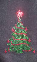 Christmas Tree iron-on hotfix transfer applique patch