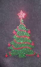 Christmas Tree iron-on hotfix rhinestone diamante craft transfer applique patch