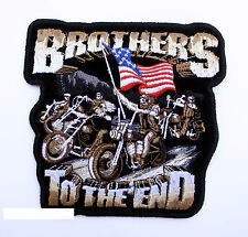 BROTHERS TO THE END POW MIA PATCH US AIR FORCE NAVY ARMY MARINES VIETNAM EAGLE