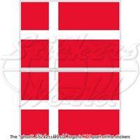 "DENMARK Danish Flag 10cm/4"" EU Vinyl Sticker, Decal x2"