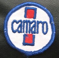 """CAMARO EMBROIDERED SEW ON ONLY PATCH AUTOMOBILE CHEVROLET UNIFORM 1 3/4"""" round"""
