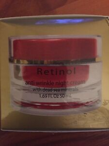 Retinol anti wrinkle night cream with dead sea minerals 1.69 FL oz~New in Box