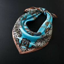 "100% Silk Square Leopard Scarf  Women's Fashion Print Neckerchiefs 21""*21"" NEW"