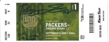 ROQUAN SMITH AUTO SIGNED NFL DEBUT TICKET BEARS PACKERS 9/9/2018 BECKETT W