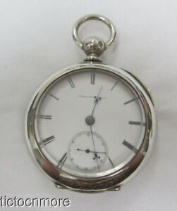 ANTIQUE WALTHAM APPLETON MODEL 1857 KEY WIND 18s POCKET WATCH 1869 FOGGS PATENT