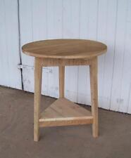 ROUND END TABLE, CRICKET TABLE, SMALL TABLE, RECLAIMED BARNWOOD TABLE, SIDE