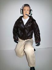 "1/4.5 ~ 1/4 Scale 15"" Tall Civilian RC Pilot Figure with Brown Leather Jacket"