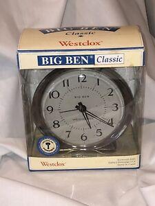 Westclox 0814 Classic Alarm Clock Full Size Analog Big Ben Alarm Clock