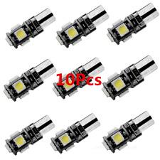 10Pcs New T10 Led Canbus Error Free 5 SMD Car Side Wedge Light Bulb 168 194 W5W