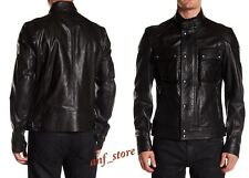 NWT Belstaff RACEMASTER Blouson Black Mens LEATHER Jacket 40/50 $1995 LARGE IT