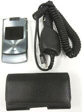 Motorola Razr V3xx - Dark Platinum / Gray ( At&T ) Cellular Flip Phone - Bundled