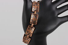 SOLID COPPER BY BELL BRACELET COSTUME SIGNED 2448