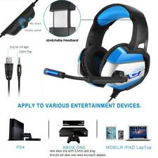 3.5mm Gaming Headset Mic LED Headphones Stereo for Laptop PS3 PS4 Xbox one X UK