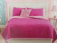 3 pc Circo Pretty Pink Goodnight Full / Queen Quilt and Shams Set Nip